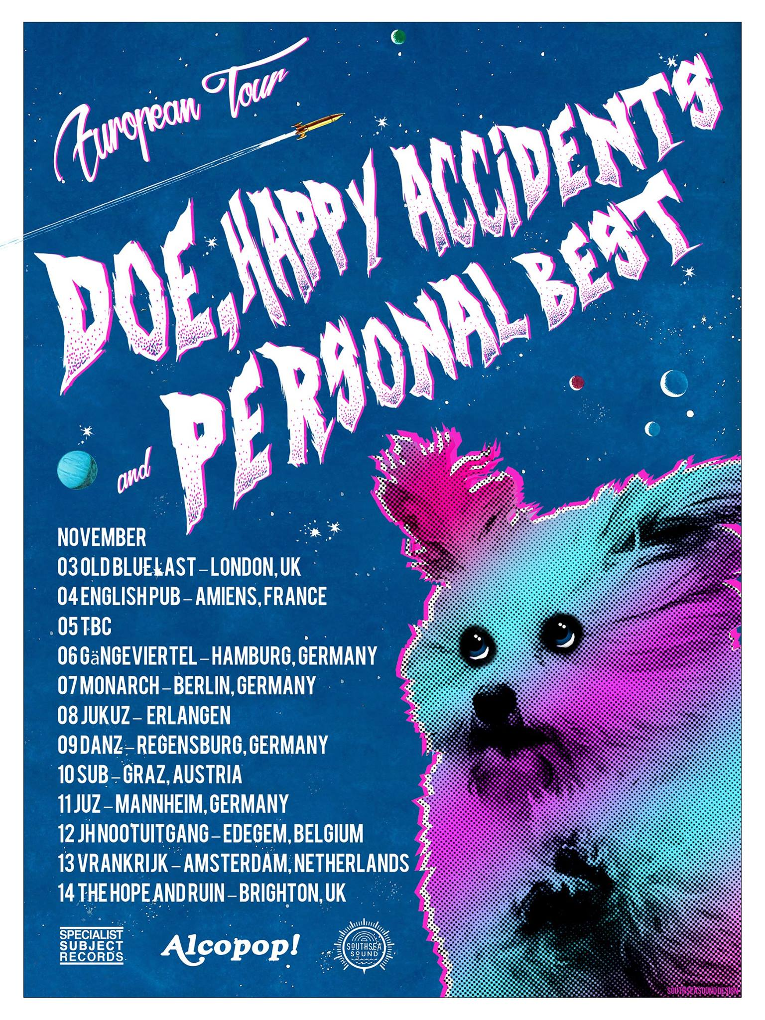 Doe, Happy Accidents, Personal Best - European Tour 2016